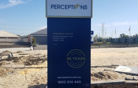 perceptions residential builders property pylon sign by compac