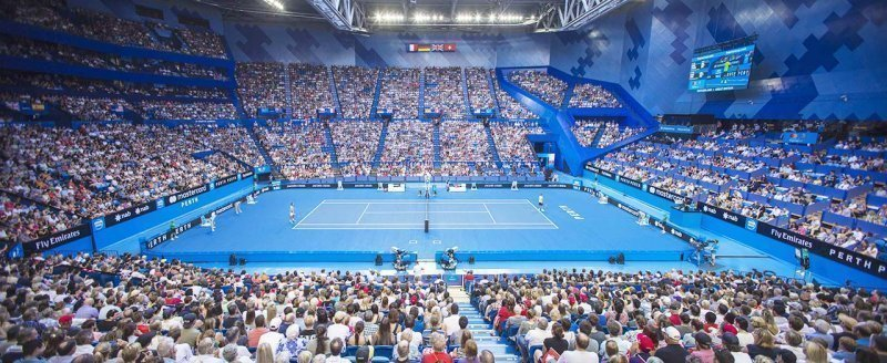 hopman cup perth event signage by compac