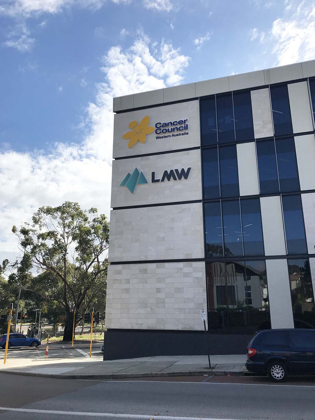 LMW building signage by Compac