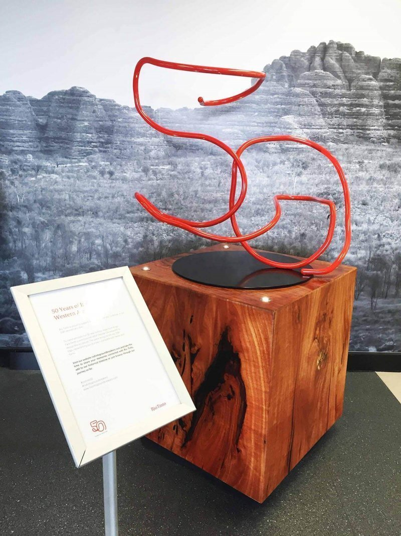 custom fabricated 3d sculpture for rio tinto by compac