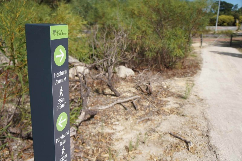 joondalup wayfinding signage by compac