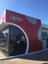 Kia motors commercial signage refresh by compac marketing australia