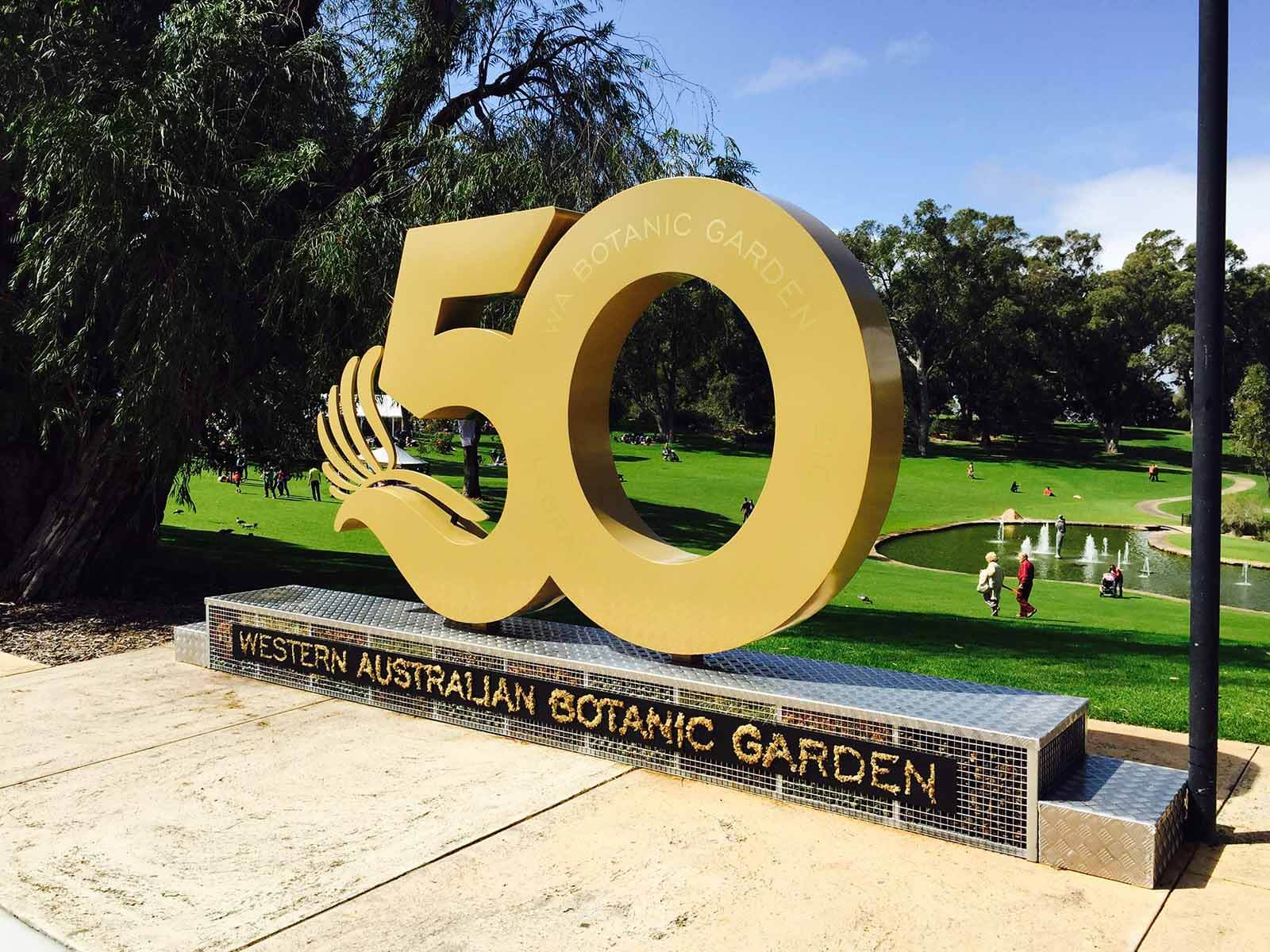 kings park 50th signage by compac