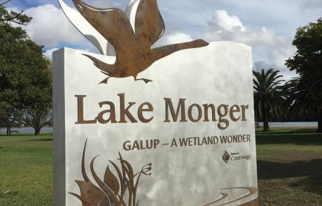 lake monger entry statement signs by compac