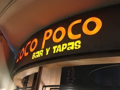 Loco poco bar & tapas signage by Compac Marketing Australia