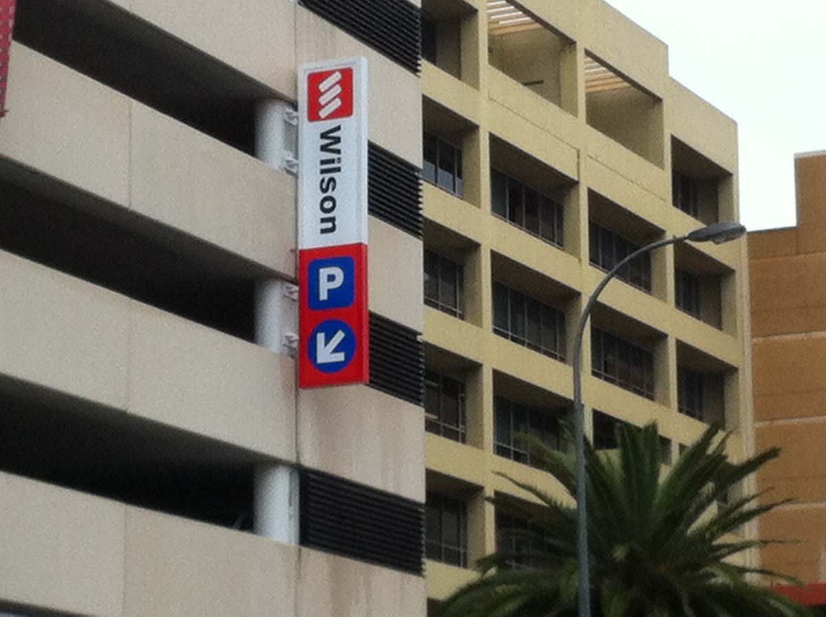 wilson parking signage by compac