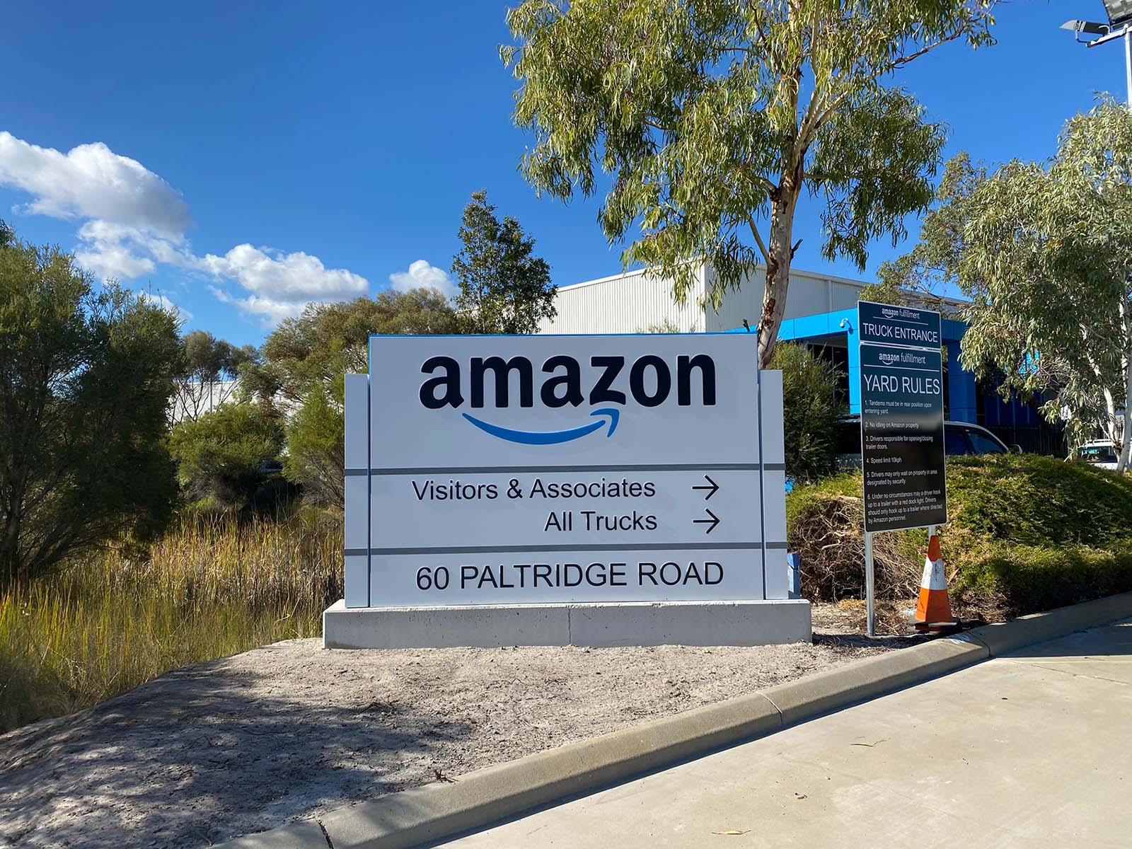 Amazon premises signage perth by compac