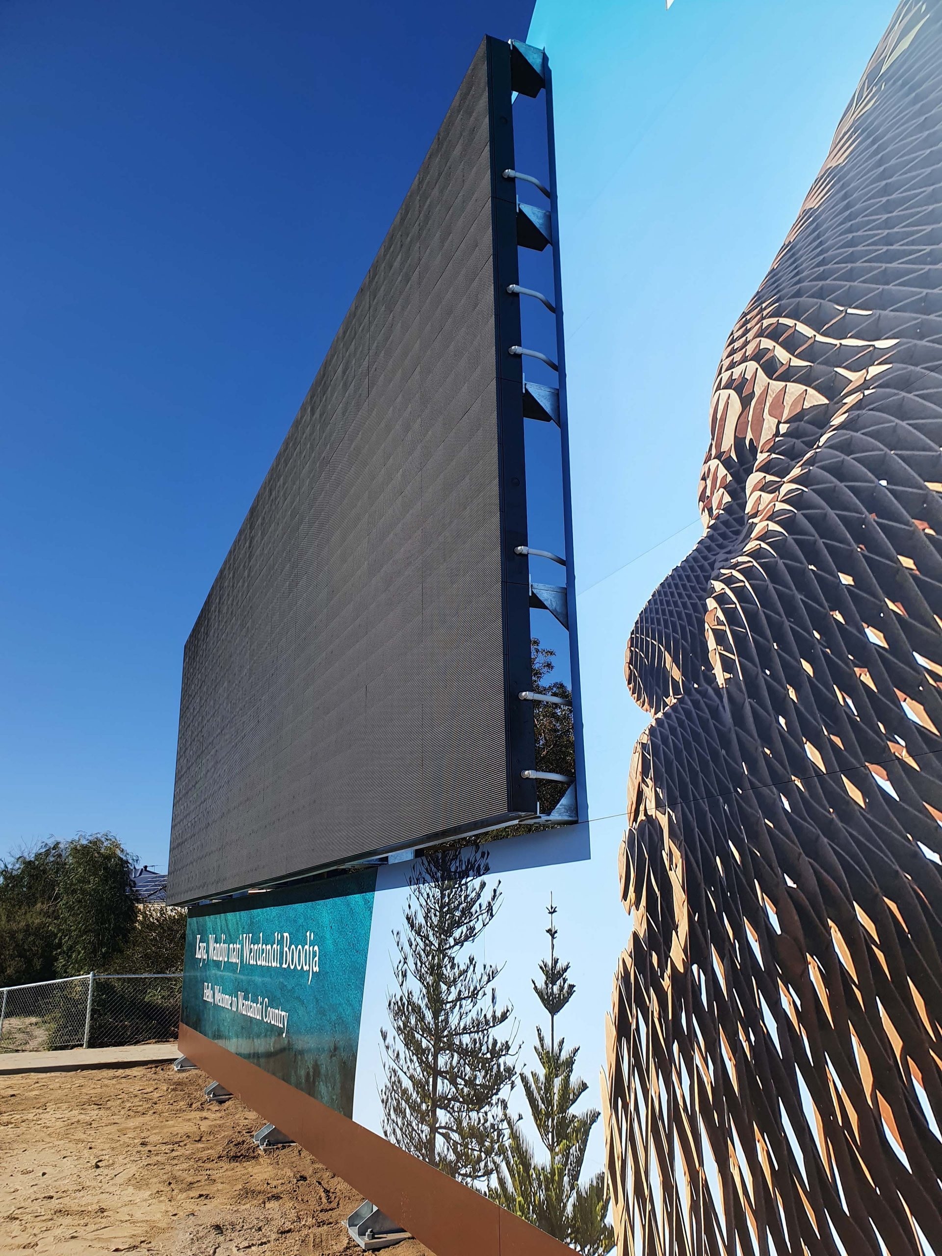 city of bunbury entry statement LED screen by Compac