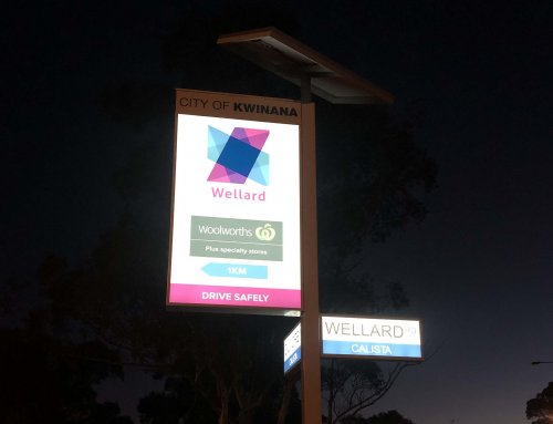 City of Kwinana solar powered street sign