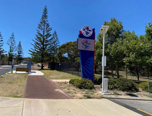 Mindarie Primary School LED Pylon